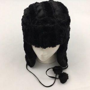 Jaclyn Smith Faux Women's ear Flap Hat  Black